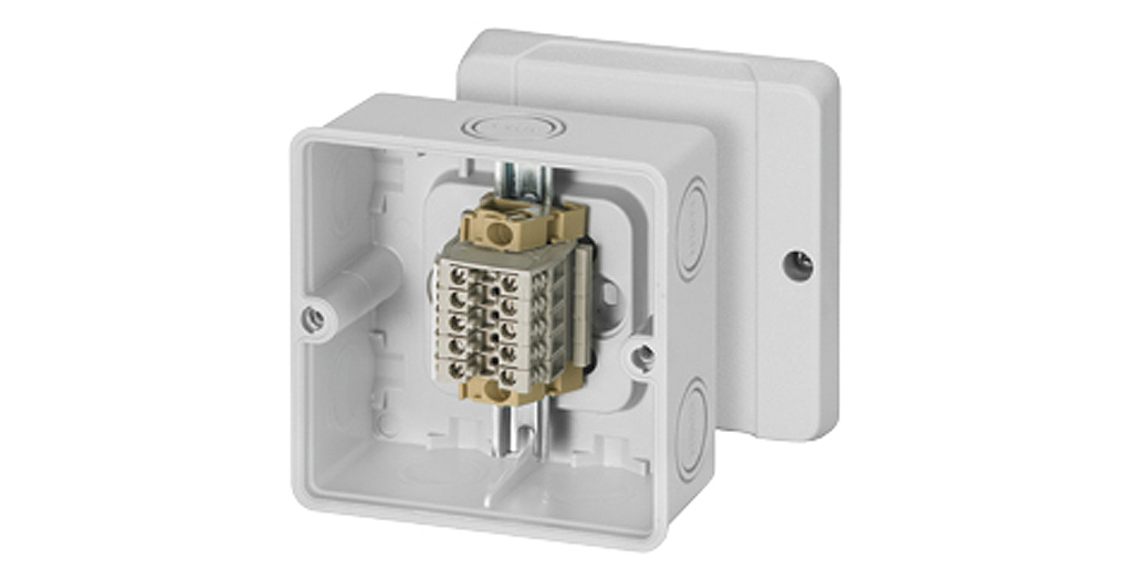 cable junction box with terminal block - HENSEL