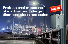 Pipe/pole mounting kits for enclosures