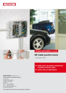 DK Cable junctino boxes - Cable entry via elastic membranes in bottom and box walls
