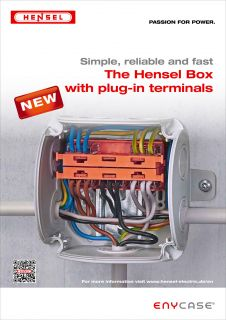 The new Hensel Box with plug-in terminals
