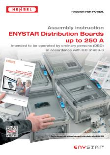 Assembly instruction - ENYSTAR Distribution Boards up to 250 A