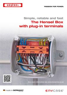 The Hensel Box with plug-in terminals