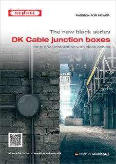 The new black series - DK Cable junction boxes for proper installation with black cables