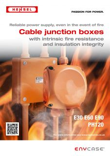 Cable junction boxes with intrinsic fire resistance and insulation integrity