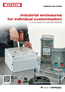 Industrial enclosures for individual customisation